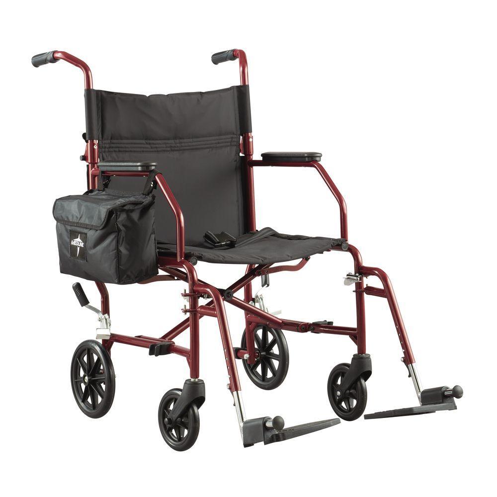 Medline Transport Folding Wheelchair